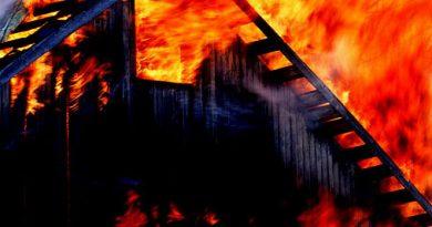 De la vecini adunate: O femeie din Neamț a incendiat fânarul unei vecine, apoi și-a bătut soțul că a sărit să stingă focul. Tânăra a fost arestată