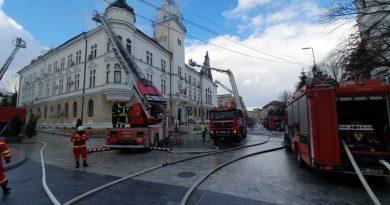 Unde vor funcționa structurile  Consiliului Județean și Prefecturii, după incendiul de ieri de la Palatul Administrativ. Hotărâre în ședință de îndată a Consiliului Județean