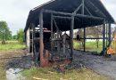 Gater distrus de un incendiu pornit de la un aparat de sudură, la Mănăstirea Humorului. Foto: ISU