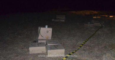 12.500 pachete cu țigări abandonate de cărăuși pe frontiera verde, la Brodina. S-au tras focuri de armă dar contrabandiștii s-au făcut scăpați peste graniță, în Ucraina